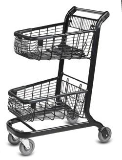 Double Basket Shopping Cart