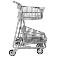 Two-tier Grocery Store Shopping Cart