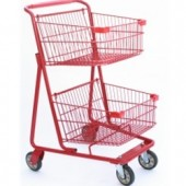 Dual Basket Grocery Shopping Cart