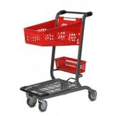Plastic Two-tier Cart