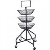 Round Basket Display Cart