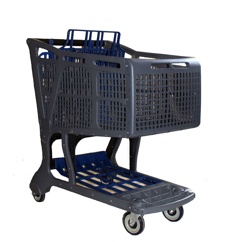 Blue Accent Recycled Plastic Shopping Cart