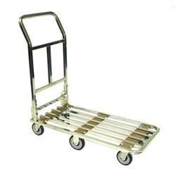 Chrome Flat Cart - 6 Wheel