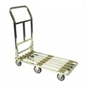 Chrome Flat Cart - 6 Wheel