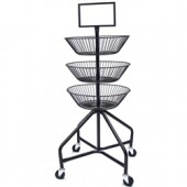 Round Basket Display Cart
